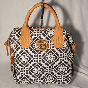 Spartina 449 linen and leather bag